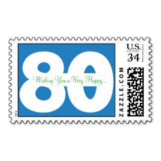 80th birthday stamp