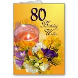 80th Birthday Wish for Mom