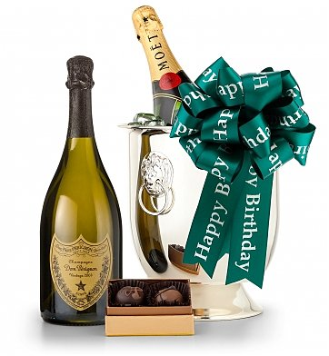 80th Birthday Champagne And Chocolate Gift Basket