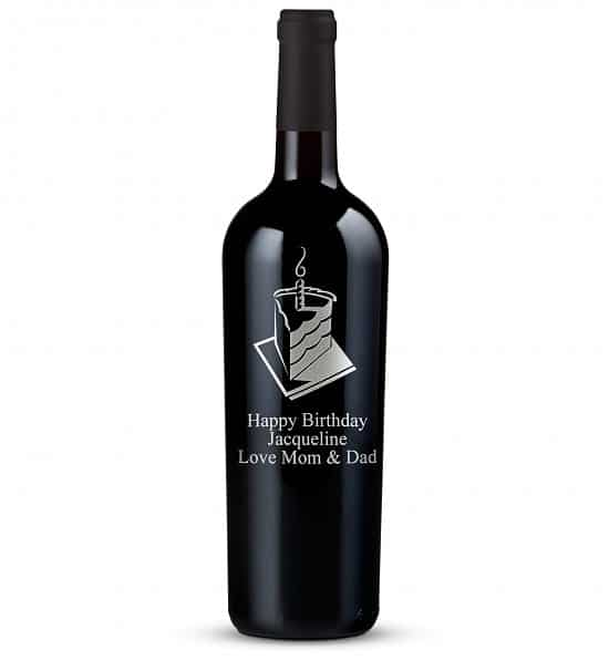Personalized 80th Birthday Bottle of Wine