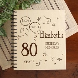 Personalized 80th Birthday Photo Album