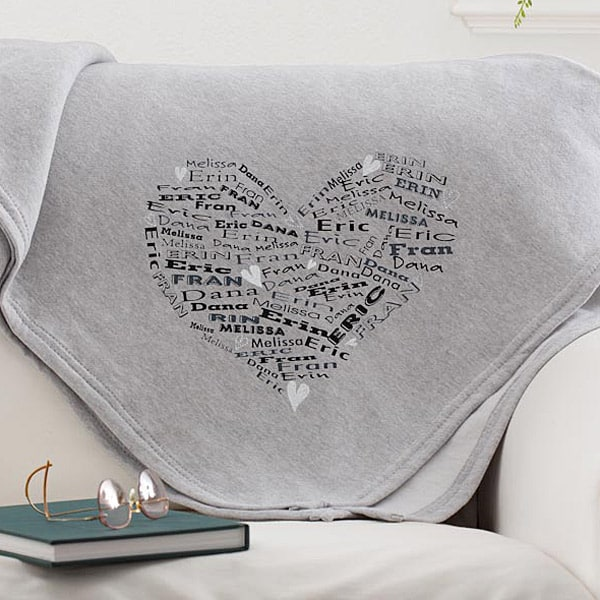 Personalized Blanket for Mom with Kids Names