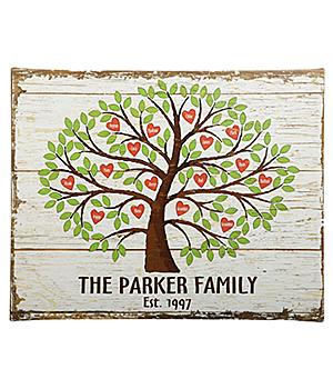 Personalized Family Tree Canvas with up to 24 Names