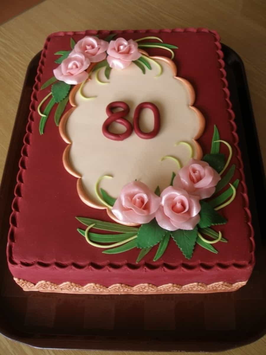 Elegant Cake Designs Birthday Cakes : Elegant 80th Birthday Cake - 80th Birthday Ideas