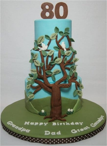 80th Birthday Family Tree Cake