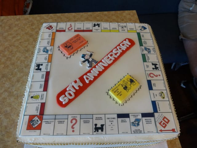 Monopoly Birthday Cake