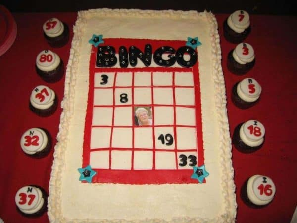 80th Birthday Bingo Cake