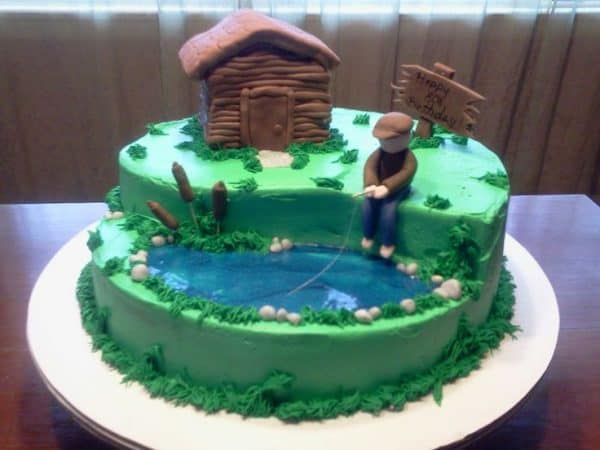 80th Birthday Fisherman Cake