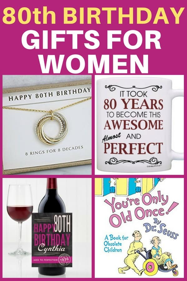 80th Birthday Gifts For Women   Looking For A Unique Gift For A Woman Whou0027s  Turning