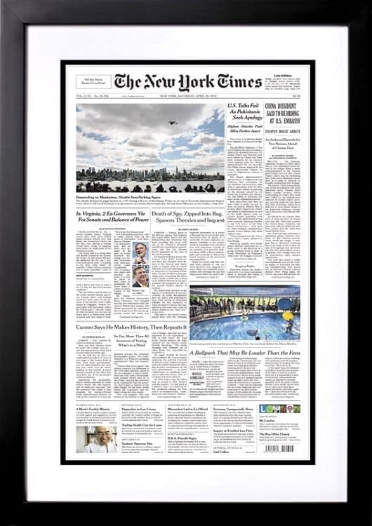 New York Times Front Page Reprint from the Day You Were Born gifts...celebrate a milestone birthday with gifts that feature The New York Times front page from the day they were born.  Choose from books, puzzles, framed reprints and more!