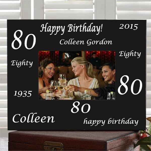 Personalized 80th Birthday Picture Frame