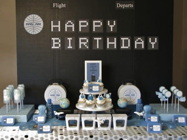 80th Birthday Pan Am Party Ideas