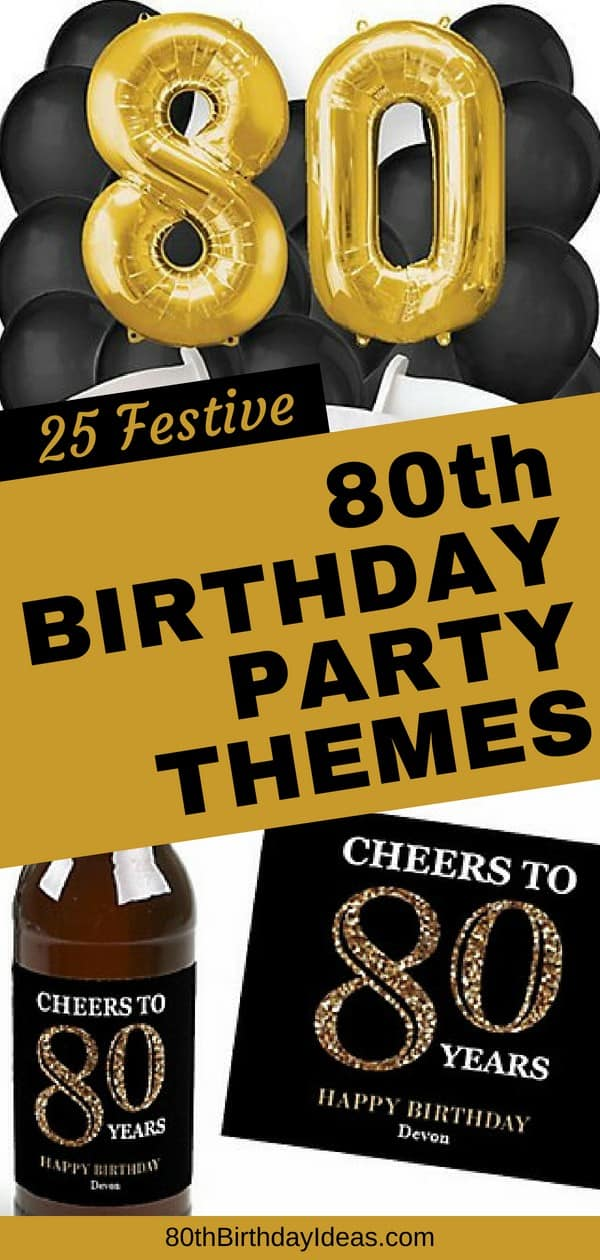 80th Birthday Party Themes - Celebrate turning 80 in style with these easy and fun birthday party themes. Click to see 25 easy party plans that are sure to impress!