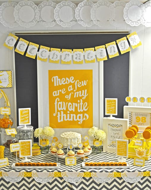 These Are a Few of My Favorite Things Party Theme