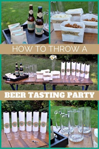 Beer Tasting Birthday Party Theme
