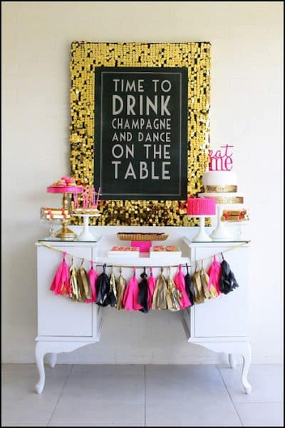 Champagne Birthday Party Ideas
