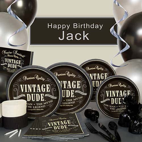 Vintage Dude 80th Birthday Party Theme for Men