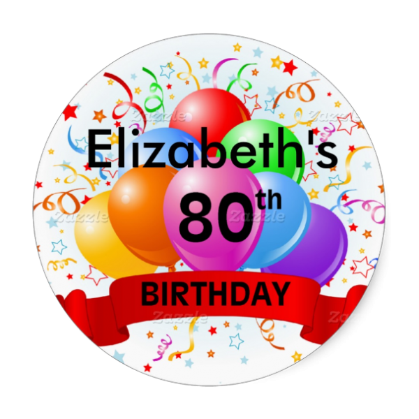 Personalized 80th Birthday Balloon Party Theme