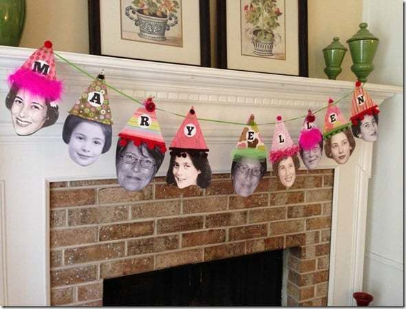 Party Hat Photo Birthday Banner
