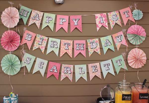 Scrapbook Paper Birthday Banner