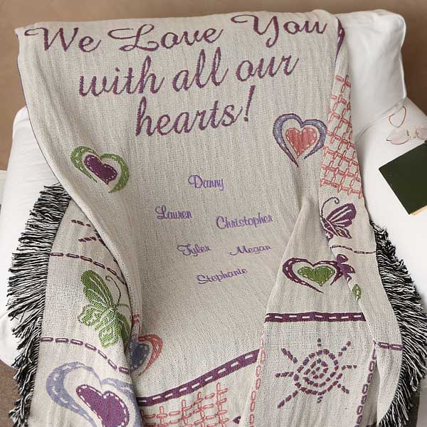 Personalized All Our Hearts Afghan