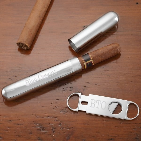 Personalized Cigar Holder and Cutter