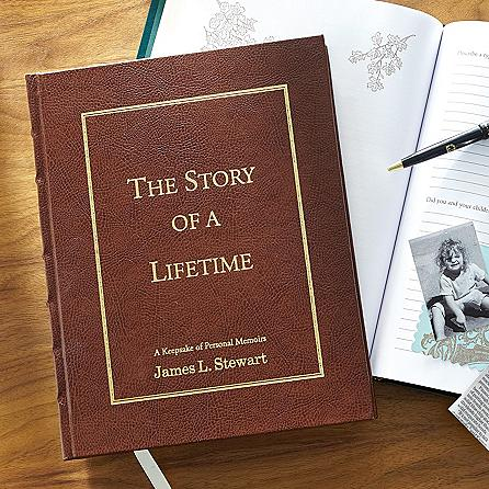 Personalized Memory Book - Looking for a unique gift for the hard-to-buy for Dad?  He'll love preserving his memories in this handsome, leather-bound book.
