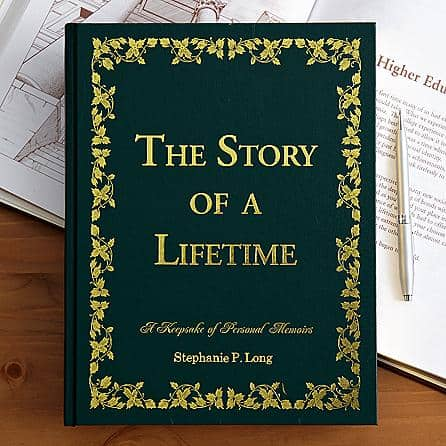 Story of a Lifetime Personalized Memoir Book - a fabulous gift for any senior!  They'll have a blast remembering old times and preserving those memories for future generations.