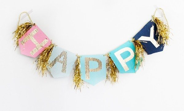 DIY Glitter Birthday Banners