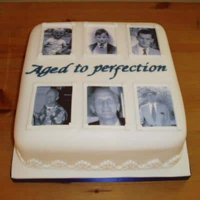 Aged to Perfection Photo Cake