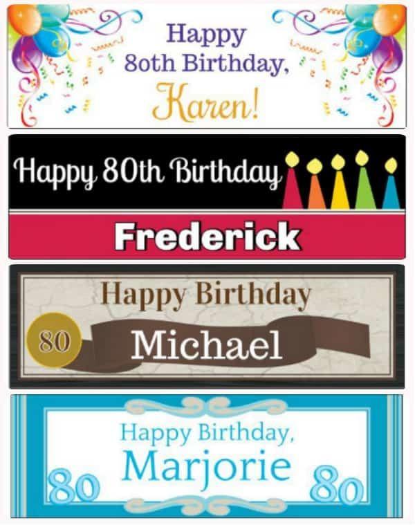 80th birthday banners 80th birthday ideas