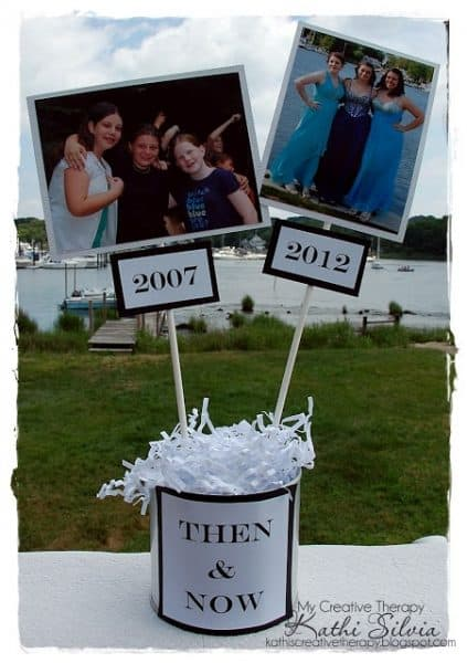 Then and Now Centerpieces