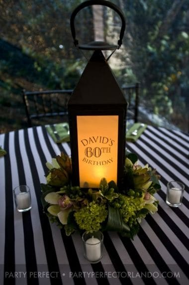 Lantern Centerpiece 80th Birthday Ideas