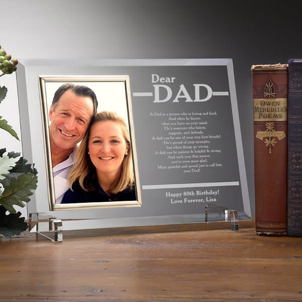 Personalized frame for Dad - Let Dad know how much he means to you with this striking keepsake frame.  Add your own personalized message of love to create a one-of-a-kind gift he'll treasure forever