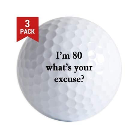 80th Birthday Golf Balls