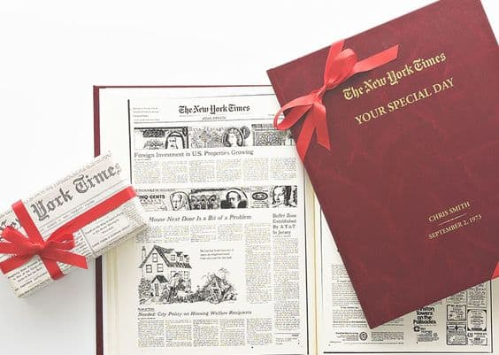 New York Times Your Special Day Birthday Book