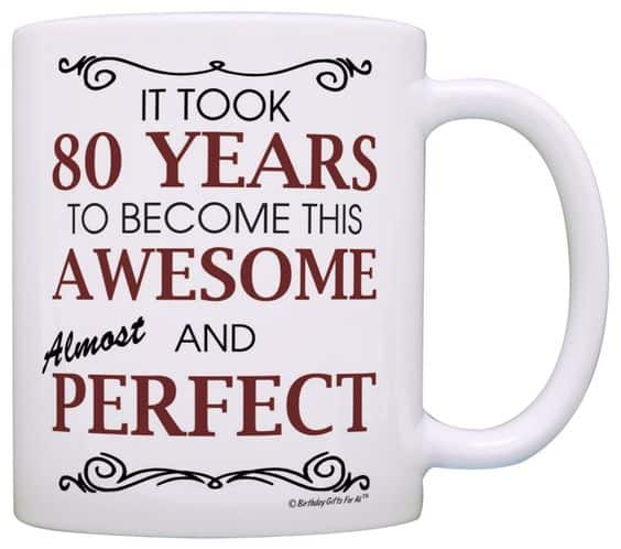 80th Birthday Coffee Mugs for Women - funny