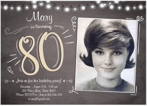 80th Birthday Party Invitations - Get your guests super-excited about your party by sending fun 80th birthday invitations!
