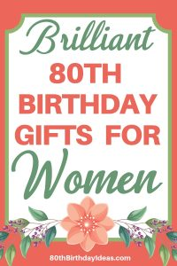 Gift Ideas for 80 Year Old Woman - Birthday and Christmas gifts that are perfect for the older woman who has everything! It can be hard to find a unique gift for a woman who is turning 80...click to see 20+ birthday gift ideas that are sure to delight any senior lady!