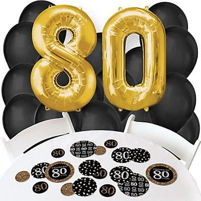 80th Birthday Balloon and Confetti Kit
