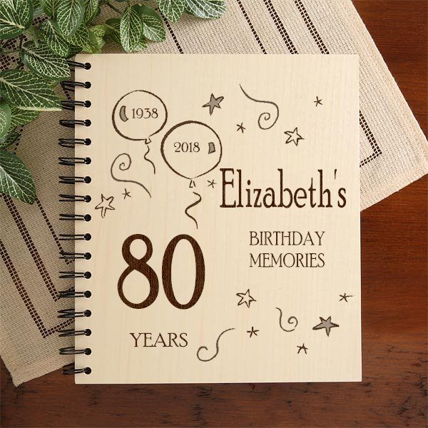 Personalized 80th Birthday Photo Album is a fabulous way to store photos from an 80th birthday party!
