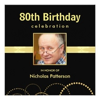 80th Birthday Invitations 20 Awesome Invites for an 80th Birthday