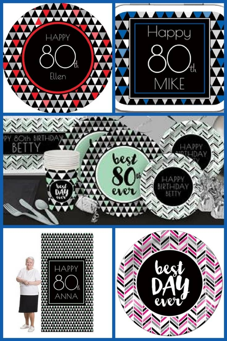 "80th Birthday Party Themes - Versatile ""Best Day Ever"" party supplies come in your choice of 48 colors.  It's so easy to plan a fabulous 80th birthday party!"