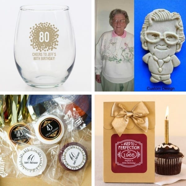 80th Birthday Party Favors - Delight your guests with personalized party favors...a sweet thank-you and an elegant reminder of a marvelous 80th birthday celebration!