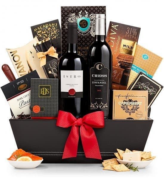 Birthday Gift Baskets - Delight a special man or lady with a stunning birthday gift basket chock full of wine and gourmet goodies!