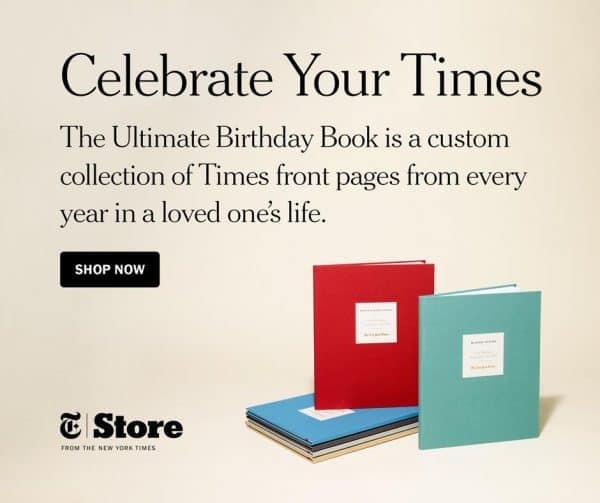 Awesome 80th birthday gift for the man who has everything!  The New York Times Ultimate Birthday book features every birthday front page from his entire life.  A unique present that's sure to impress!
