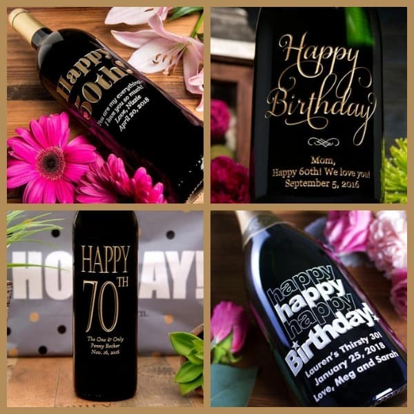 Personalized Birthday Wine - Delight your favorite wine lover with a personalized bottle of wine for their birthday!  Choose from over 30 styles - click for details.