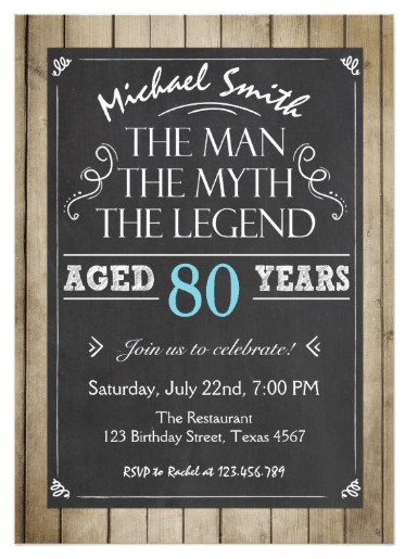 The Myth Legend Invitation For Men