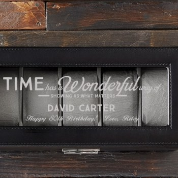 Personalized Watch Box - Choice of Quotes