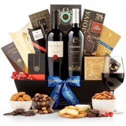 80th Birthday Luxury Wine Gift Basket